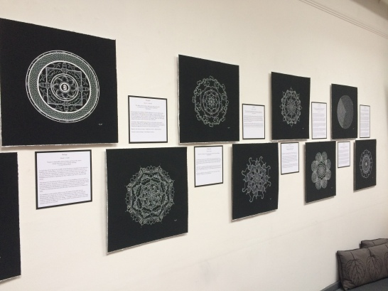 white on black mandalas